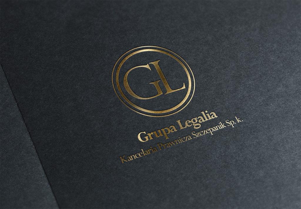 GL logo projektowanie graficzne dsnstudio logotyp kancelaria prawnicza studio graficzne